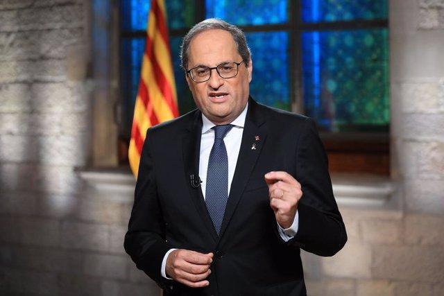 """VÍDEO: Torra insiste en la independencia y pide al Gobierno un """"acto solemne"""" de"""