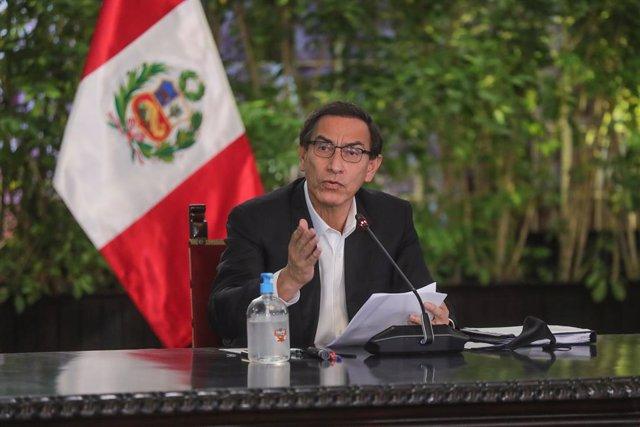 AMP.- Perú.- El Congreso de Perú presenta una moción de censura contra Vizcarra