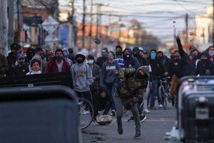 AMP.- Colombia.- Nueva jornada de protestas contra la brutalidad policial en Bogotá