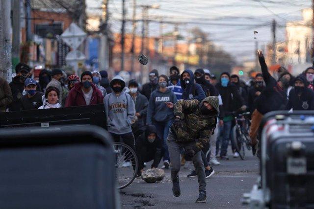 Protestas contra la violencia policial en Colombia.