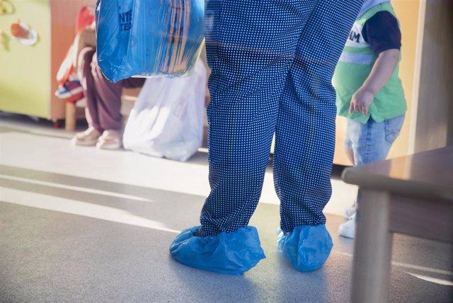Medidas de seguridad puestas en marcha por la escuela infantil de Abegondo para el nuevo curso escolar. Las guarderías inician el curso en Galicia.
