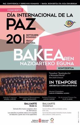 Cartel que anuncia el concierto del grupo In Tempore Abesbatza- Coro&Ensemble el 20 de septiembre
