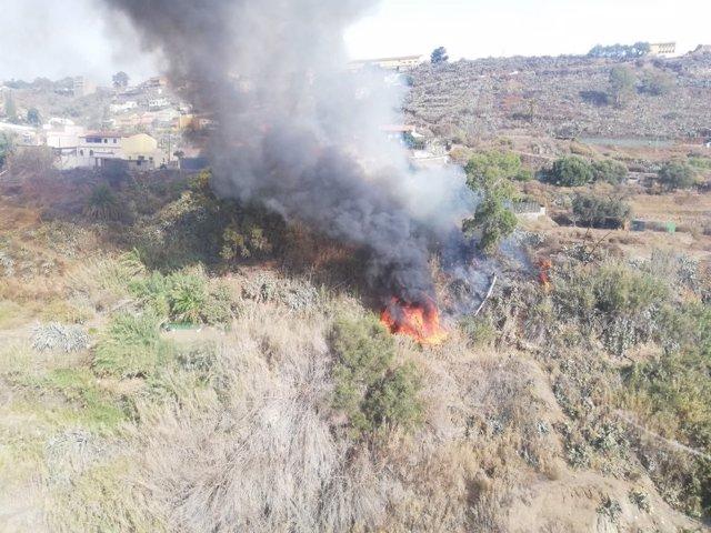Incendio en Valsequillo (Gran Canaria)