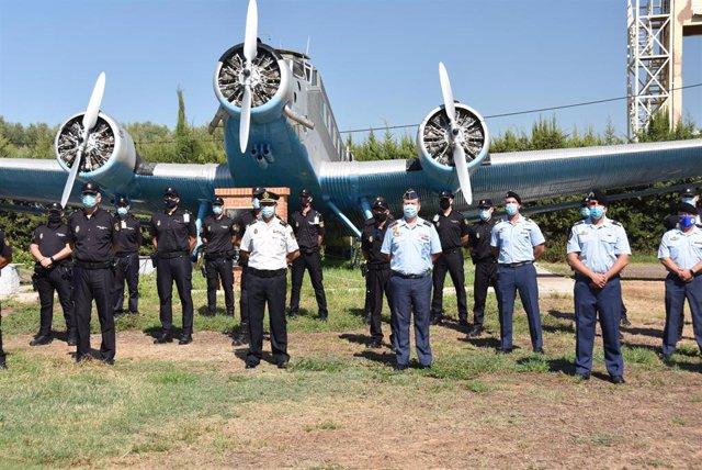 La Policía Nacional y el Ejército del Aire celebran las VII jornadas de conducción de seguridad