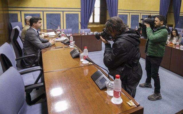Comisión de investigación en el Parlamento andaluz sobre la extinta Faffe. Fotografía de archivo