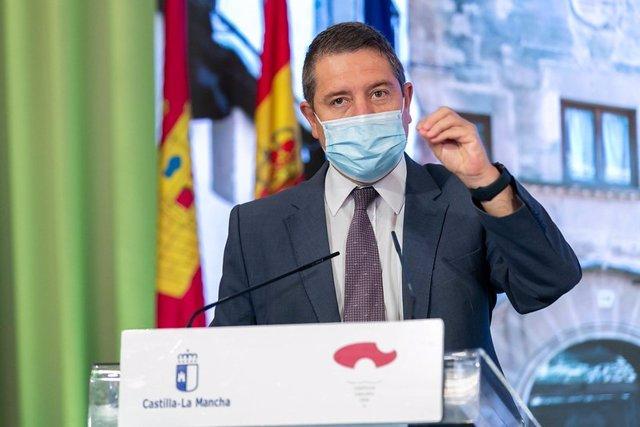 El presidente de C-LM, Emiliano García-Page, en Sigüenza
