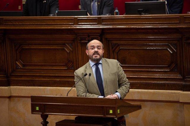 El líder del PP catalán, Alejandro Fernández