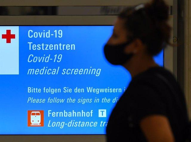 Punto de vigilancia del coronavirus en el aeropuerto de Frankfurt
