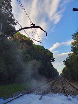 Actos vandálicos en vías de tren en municipios de Girona y Lleida este 11 de Septiembre