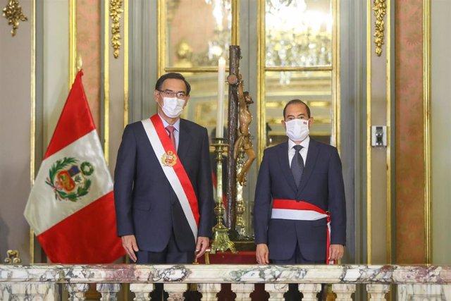 Martín Vizcarra y Walter Martos