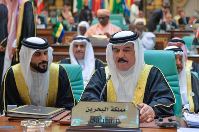 El rey de Bahréin, Hamad bin Isa al Jalifa
