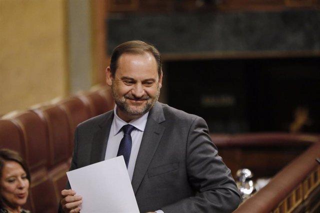El ministro de Transportes y Movilidad, y 'número dos' del PSOE, José Luis Ábalos, en una imagen de archivo en el Congreso