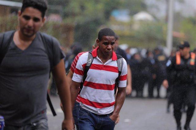 Migrantes en Guatemala.