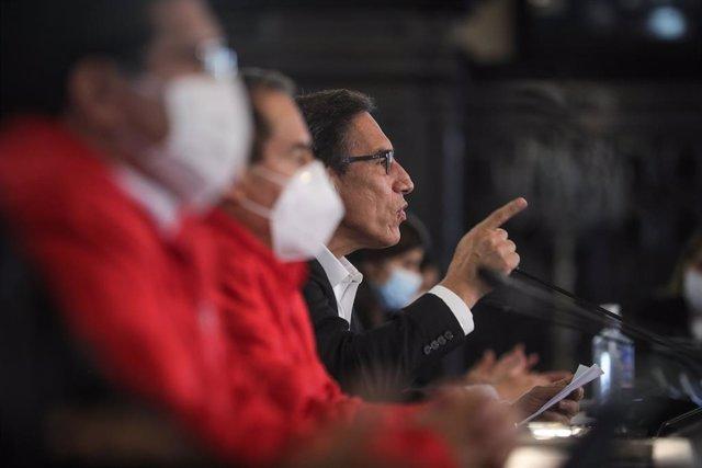 Perú.- El Congreso de Perú admite la moción de censura contra Vizcarra y fija el