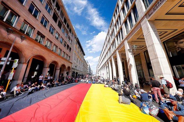 Manifestación en Berlín por las restricciones contra el coronavirus