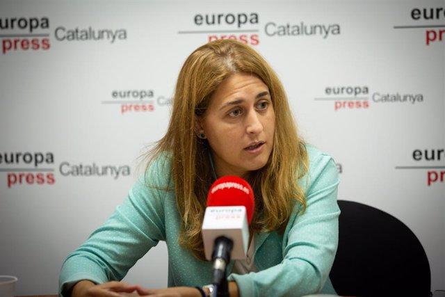La secretària general del PNC, Marta Pascal, durant una entrevista concedida a Europa Press, a Barcelona, Catalunya, (Espanya), a 11 de setembre de 2020.