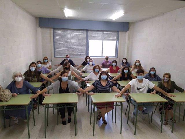 Protesta contra los criterios de la Xunta en el aula