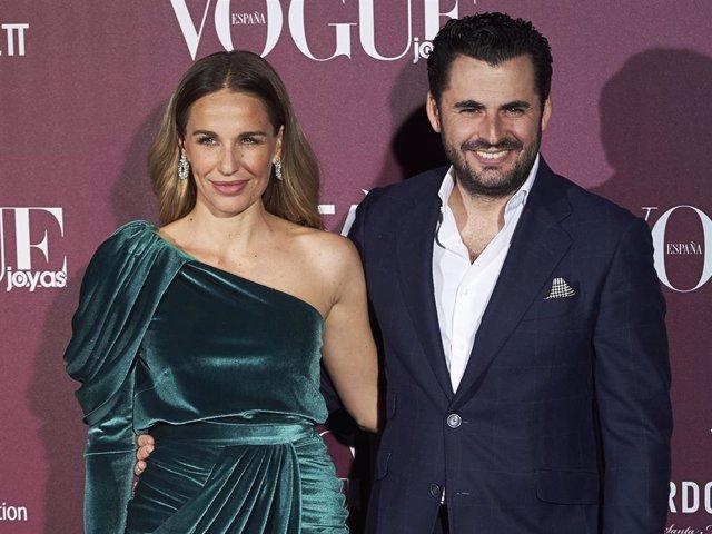 Emiliano Suarez and Carola Baleztena attend the 'Vogue Joyas' awards 2017 at the Santona Palace on November 23, 2017 in Madrid, Spain.