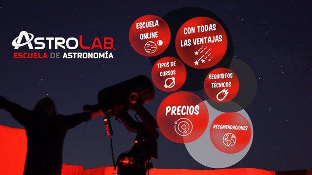 Escuela de atronomía online. Astrolab.