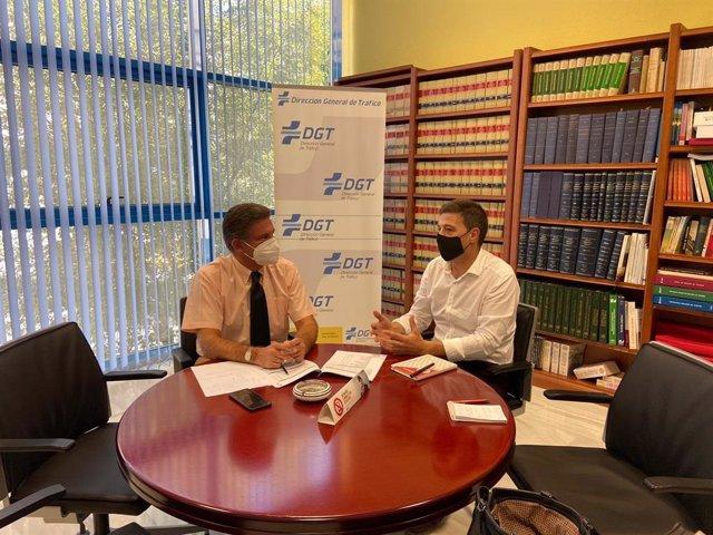 Reunión de Ruiz con el jefe provincial de la DGT