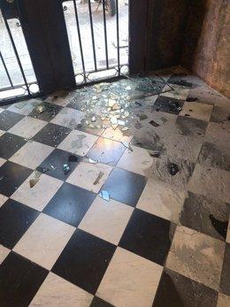 Òmnium Cultural critica l'atac que va rebre la seva seu el divendres durant la celebració de la Diada