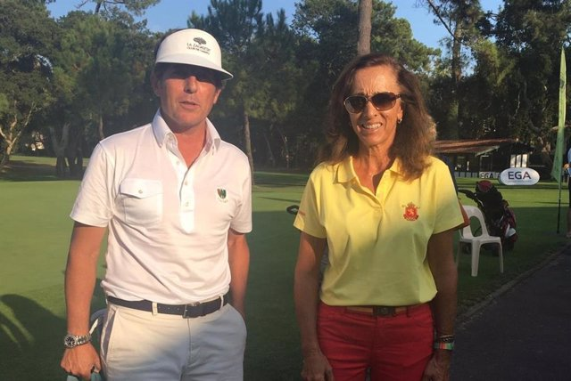 Los golfistas Jacobo Cestino y María de Orueta, campeones de Europa senior
