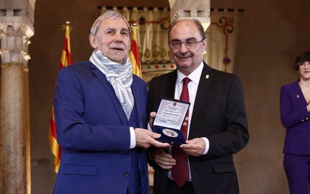 Joaquín Carbonell recibió en 2019 la Medalla al Mérito Cultural de Aragón.