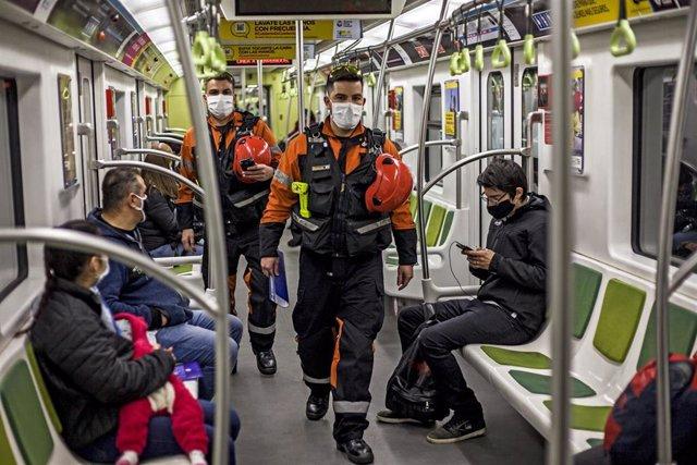 Un vagón del metro de Buenos Aires.
