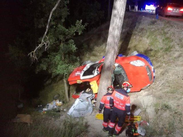 Un fallecido y un herido grave en un accidente en Aldehuela, en Teruel.