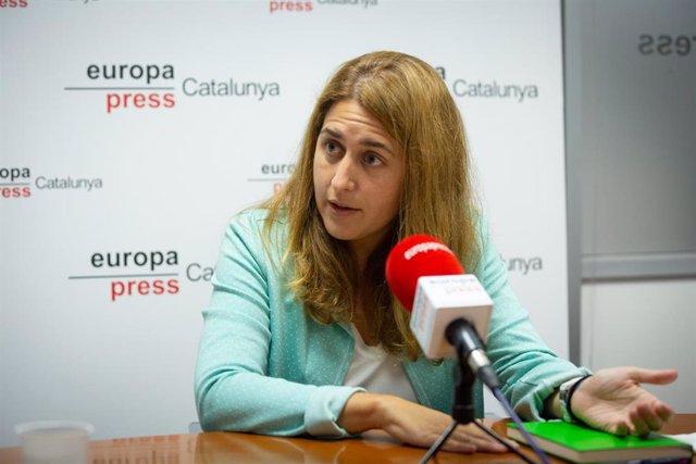 La secretaria general del PNC, Marta Pascal, durante la entrevista