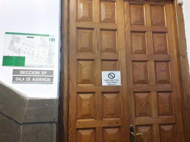 Sección Segunda de la Audiencia de Granada donde se ha celebrado el juicio