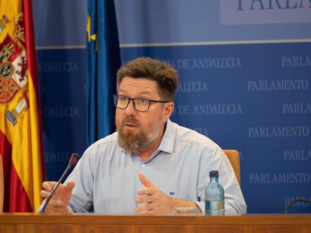 El portavoz parlamentario adjunto del PSOE-A, Rodrigo Sánchez Haro, en una imagen de archivo.