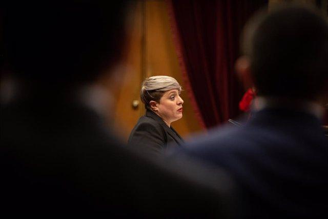La diputada de Cs, Noemí del Carrer, durant el ple del Parlament. A Barcelona, Catalunya, (Espanya), a 9 de setembre de 2020.