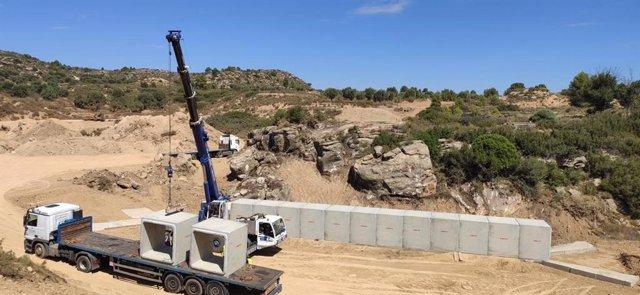 Obras en la carretera de Maella