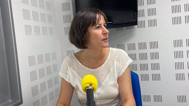 La portavoz nacional del BNG, Ana Pontón, en una entrevista en la Cadena Ser.