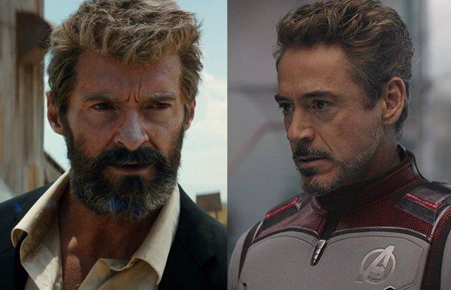 Hugh Jackman es Lobezno y Robert Downey Jr. Es Iron Man