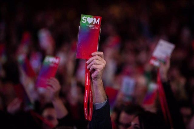 Imagen de votantes durante el 14 Congreso del PSC