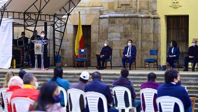 Acto de perdón y reconciliación tras la violencia durante las protestas en Bogotá