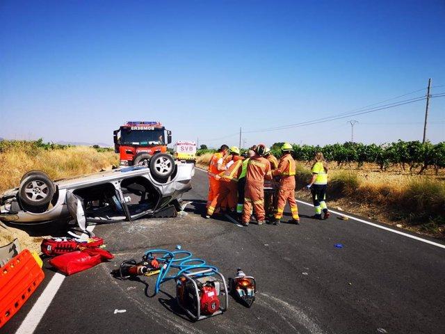 Accidente de tráfico en Utiel