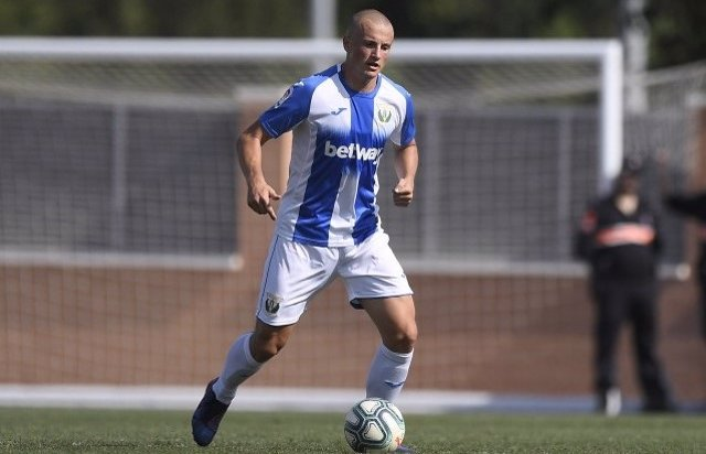 Vasyl Kravets, en un partido con el Leganés
