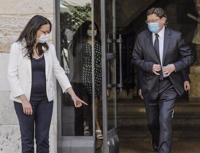 El president de la Generalitat, Ximo Puig, junto a la vicepresidenta del Consell y consellera de Igualdad y Políticas Inclusivas, Mónica Oltra, en una imagen de archivo