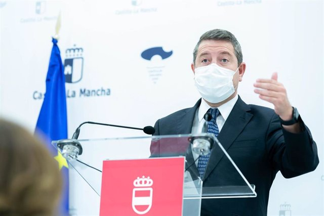 El presidente de C-LM, Emiliano García-Page, en Puertollano.
