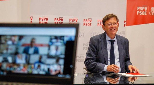 El president de la Generalitat y secretario general del PSPV-PSOE, Ximo Puig
