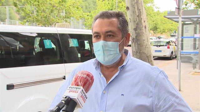 El presidente de la Federación del Profesional del Taxi de Madrid, Julio Sanz García.
