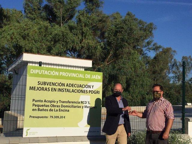 Entrega del punto de acopio de residuos de la construcción de Baños de la Encina.