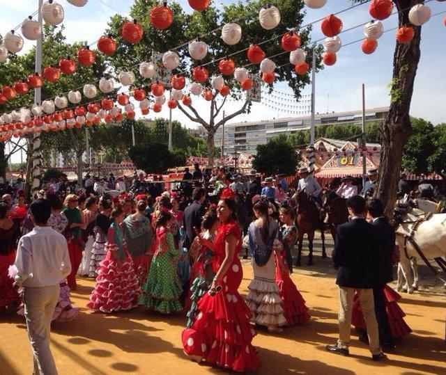 Imagen de archivo de la Feria de Abril de Sevilla.