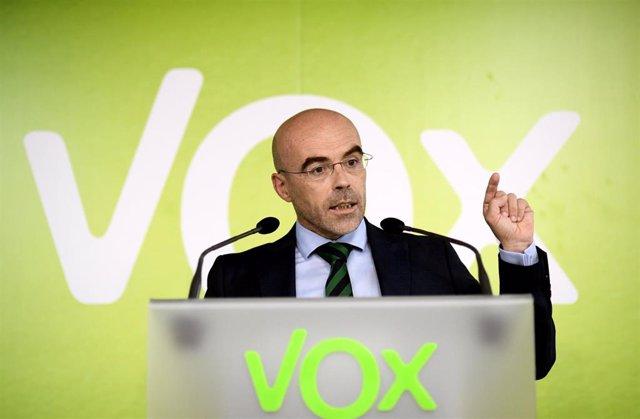 El eurodiputado y portavoz del Comité de Acción Política de Vox Jorge Buxadé