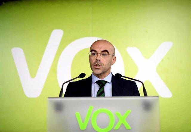 El eurodiputado y portavoz del Comité de Acción Política de Vox, Jorge Buxadé