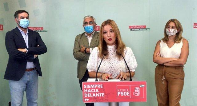 Verónica Pérez, en una rueda de prensa