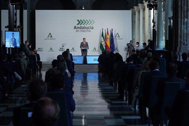 Moreno presenta el Plan Andalucía en marcha